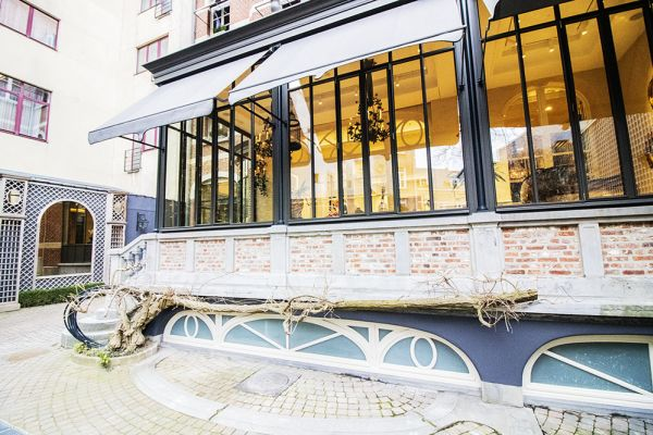 Picture of an event venue rental in Elsene, Brussels, Inside the courtyard of the Maison Degand 7910