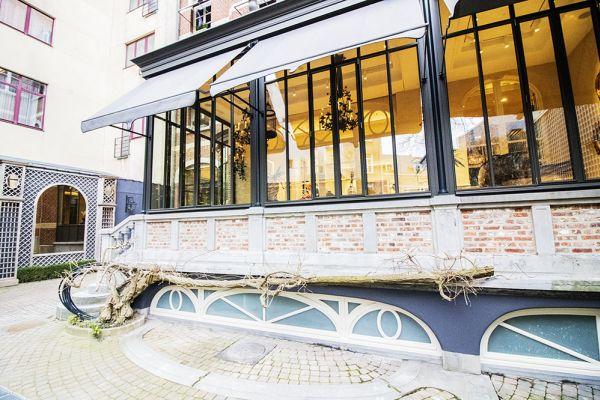 Feestzaal verhuren in Elsene, Brussel, In de buitenkant van het Maison Degand 7910