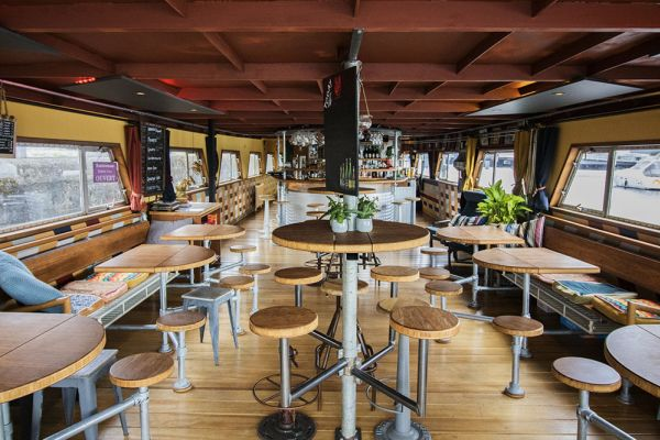 Picture of an event venue rental in Gand, East Flanders, Inside Jo & Ingrid's houseboat 8600