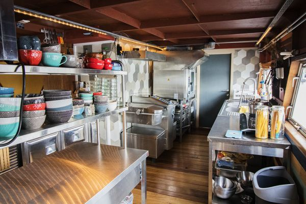 Picture of an event venue rental in Gand, East Flanders, Inside Jo & Ingrid's houseboat 8604