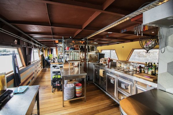Picture of an event venue rental in Gand, East Flanders, Inside Jo & Ingrid's houseboat 8605