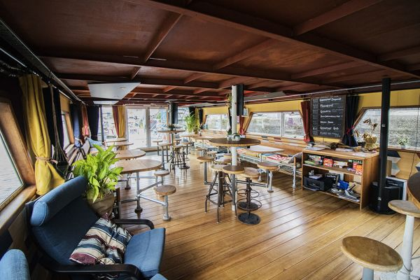 Picture of an event venue rental in Gand, East Flanders, Inside Jo & Ingrid's houseboat 8607