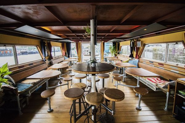 Picture of an event venue rental in Gand, East Flanders, Inside Jo & Ingrid's houseboat 8608