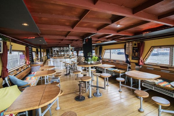 Picture of an event venue rental in Gand, East Flanders, Inside Jo & Ingrid's houseboat 8612