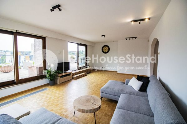 Picture of an event venue rental in Elsene, Brussels, Inside Jess & Sebastien's penthouse 11317