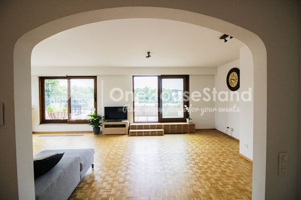 Picture of an event venue rental in Elsene, Brussels, Inside Jess & Sebastien's penthouse 11320