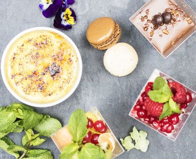 Photo menu Assortiment de desserts