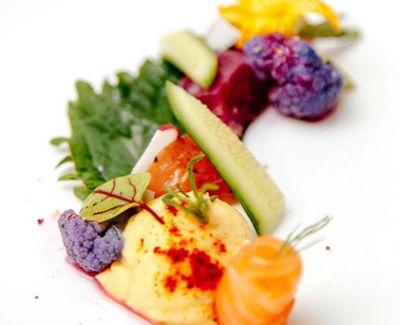 Photo menu Saumon à la Thaï et ses Légumes de Saison