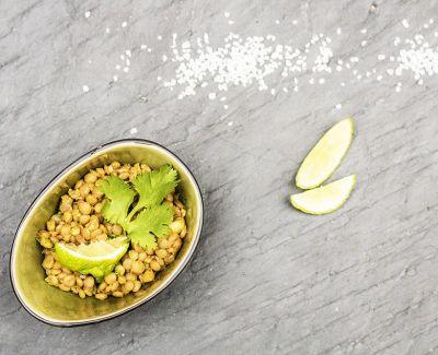 Photo menu Lentilles au citron & coriandre