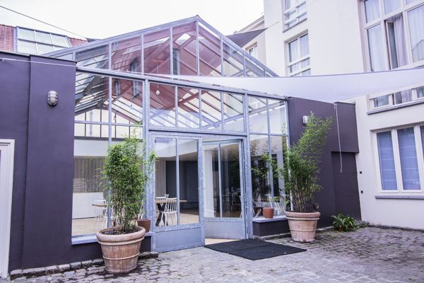 Picture of an event venue rental in Schaarbeek, Brussels, Inside Virginie's glass room 2207