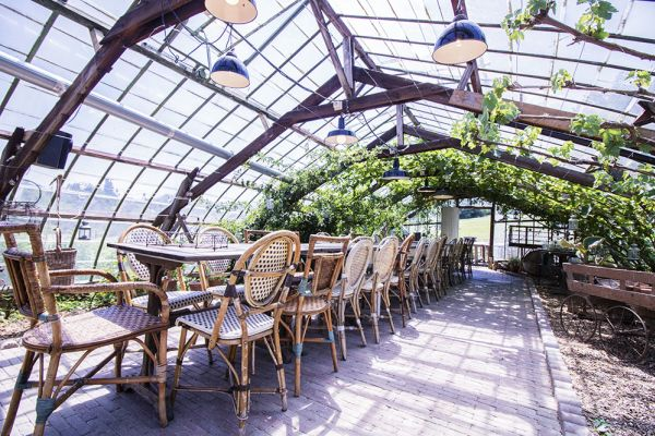Picture of an event venue rental in Hoeilaart, Flemish Brabant, Inside Cécile & Michel's greenhouse 2823