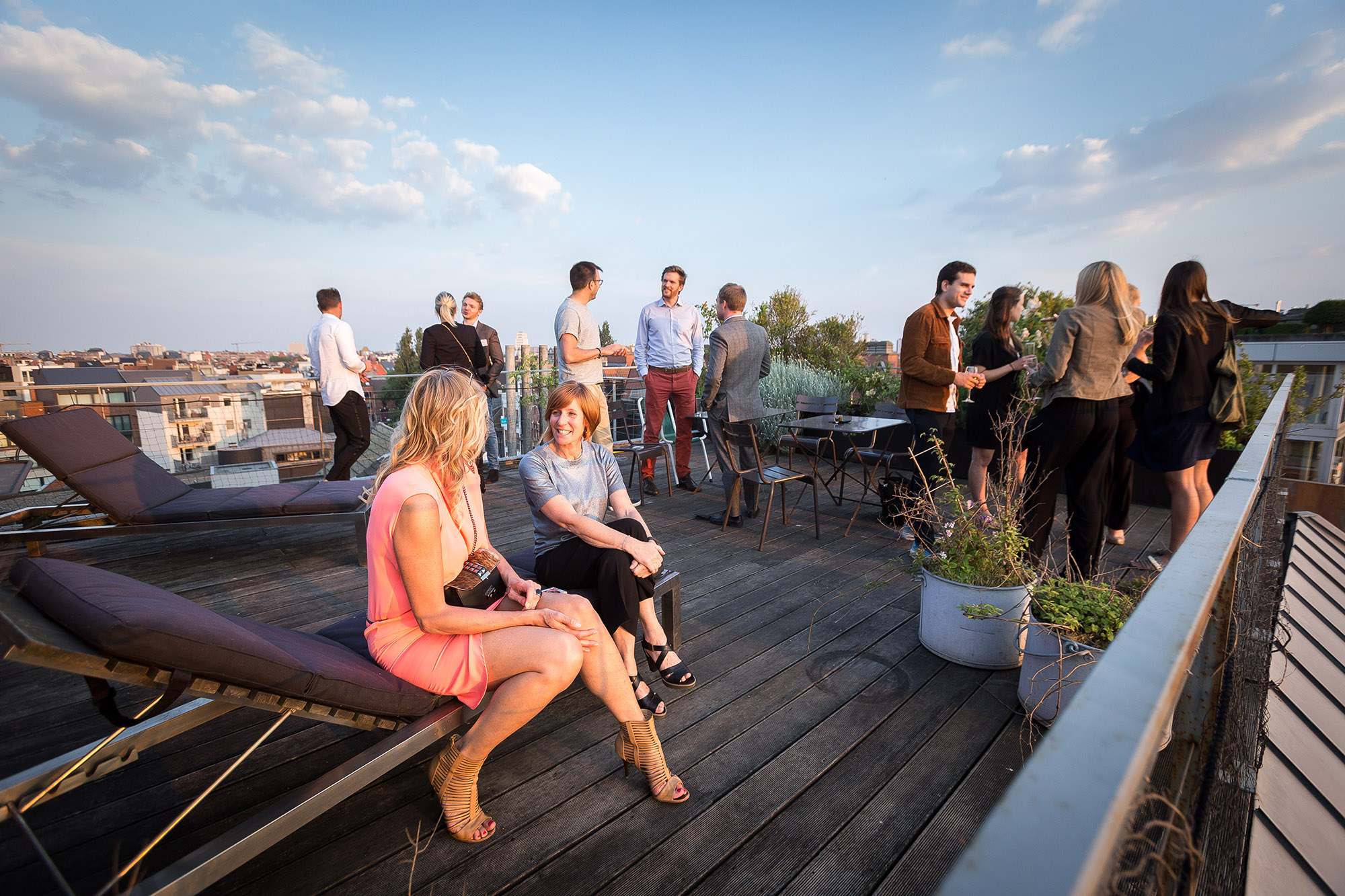 Evénement sur un rooftop